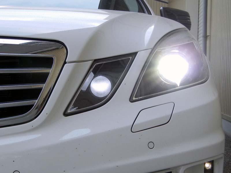 純正hid専用交換バルブ 2010年 メルセデスベンツ Eクラスセダン W212 E350 装着事例